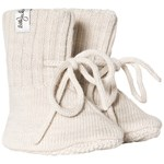 Little Jalo Knitted Baby Booties Cream