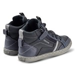 Geox Navy Garcia Leather Velcro and Zip High Top Trainers