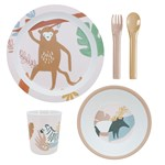 sebra Melamine dinner set 5 pcs Wildlife sunset pink