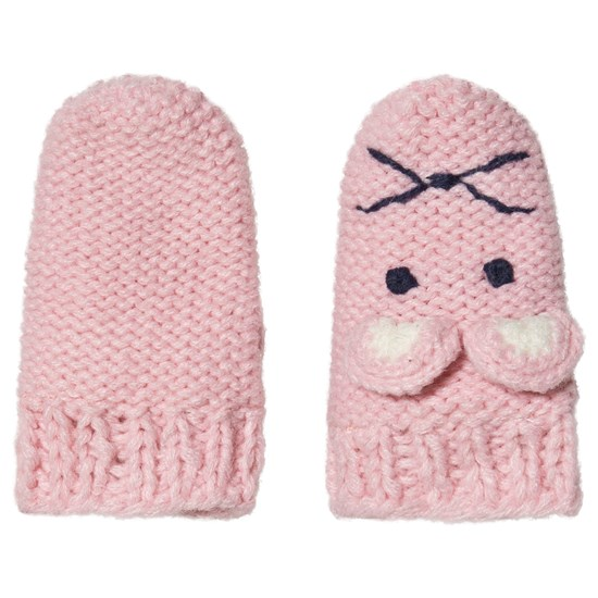 Joules Pink Mouse Character Chummy Infants Mittens