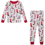 Hatley White Holiday Stockings Organic Pyjama Set