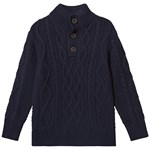 Gap V-Bttn Mock Tapestry Navy