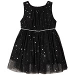 Jocko Baby Dress with Silver Dots Black