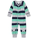 Geggamoja Wool Suit Green Stripe