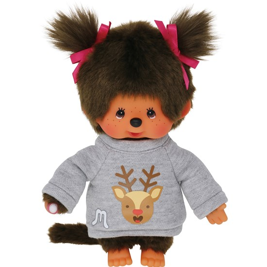 Monchhichi Deer Printed Sweater Girl 20 cm