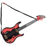 Supersonic Guitar with Sounds - Black/Red