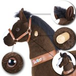 Pony Cycle Dark Brown Horse Ride-On, Withers height 49cm, Age 3-5