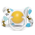 Suavinex Basic Fusion Anatomical Silicone Pacifier  4-18 m Bee