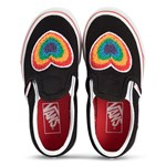 Vans Black Rainbow Heart Slip On Trainers