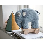 sebra Crochet pull-along toy Fanto the elephant powder blue