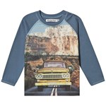 Minymo T-shirt LS Photo print Copen Blue