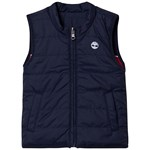Timberland Navy and Red Small Tree Logo Reversible Gilet