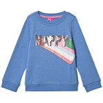 Joules Blue Viola Happy Sequin Sweatshirt