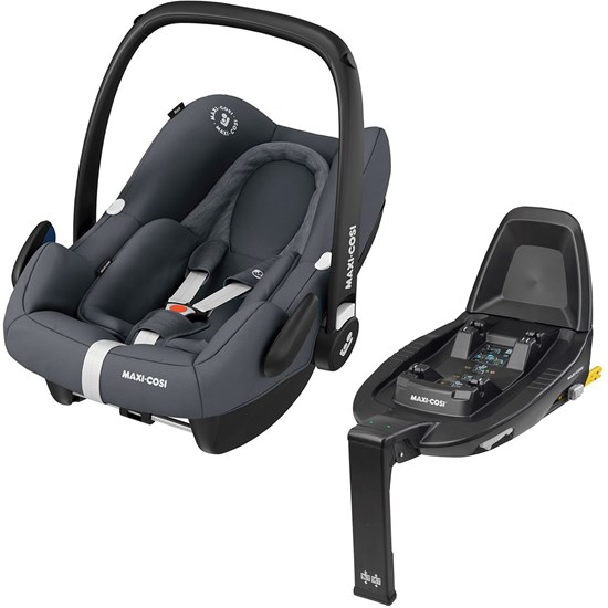 Maxi-Cosi Maxi-cosi Rock Infant carrier Essential Graphite + Familyfix2 bases