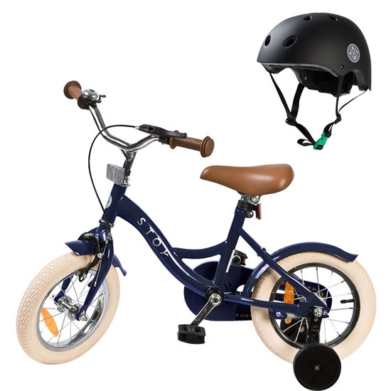 Bicycle 12 Vintage and Helmet Navy Blue/Black