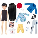 Creatable World Black Straight Hair Deluxe Merkkisarja