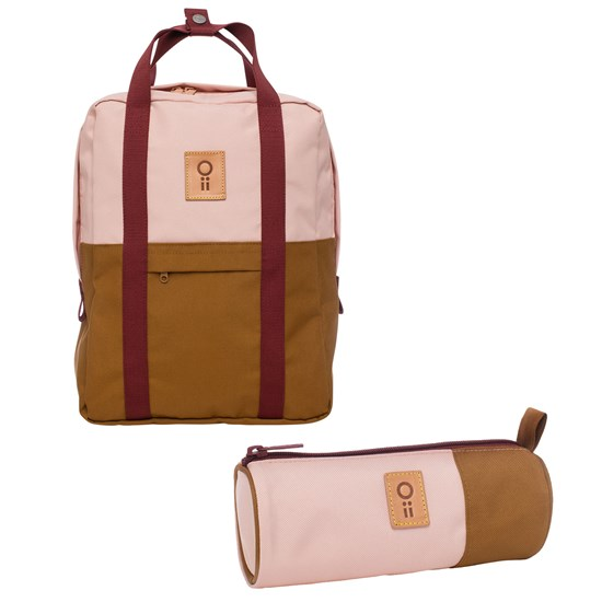 Oii Backpack and Pencil Case Misty Rose