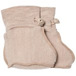 Kuling Wool Fleece Booties Sand Melange