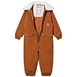 Kuling Munich Shell Coverall Teddy Collar Brown