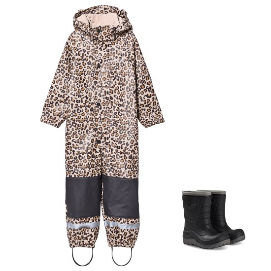 Kuling Douglas Rain Coverall and Winter Boots Leopard/Black