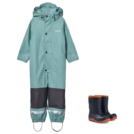 Kuling Douglas Rain Coverall and Winter Boots Off Petrol/Navy
