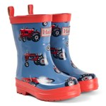 Hatley Blue Vintage Tractors Shiny Wellies