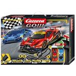 Carrera GO!!! - Race the Track 620 cm Auton Raita