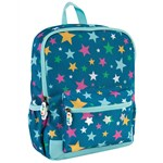 Frugi Blue Recycled Fibre Rainbow Star Backpack