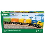BRIO BRIO® World Three-Wagon Cargo Kouluttaa