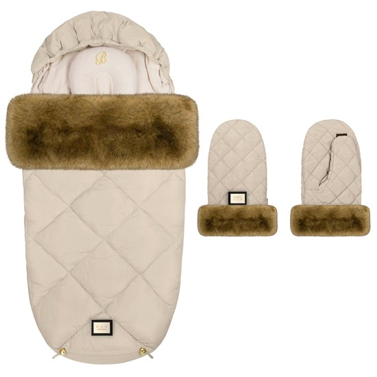 Bjällra of Sweden Bjällra of Sweden Footmuff Créme Diamond + Handmuff Créme Diamond