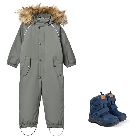 Kuling Verbier Winter Coverall and Winter Boots Light Green/Navy