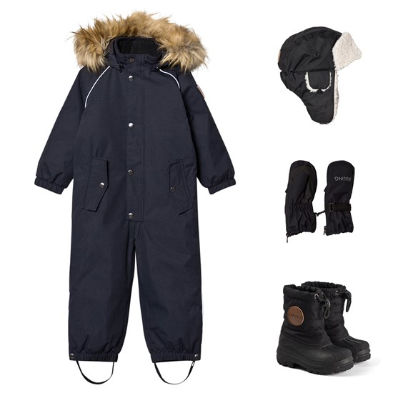 Kuling Verbier Winter Coverall, Winter Hat, Winter Mittens and Winter Boots Black