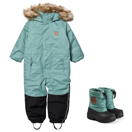 Kuling Chamonix Winter Coverall and Winter Boots Off Petrol