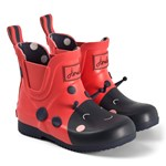 Joules Red Lady Bird Short Wellies