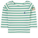 Joules White and Green Stripe Harbour Long Sleeve Tee