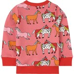 Småfolk Sweatshirt Med Hest Rapture Rose