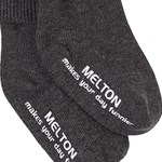 Melton Basic Sock Abs Dark Grey Melange