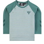 Hummel Green Stripe Long Sleeve T-shirt